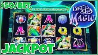 Drop & Lock Deep Sea Magic HANDPAY JACKPOT ⋆ Slots ⋆HIGH LIMIT $50 BONUS ROUND LOCK IT LINK SLOT MAC