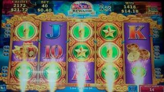 Dragon's Law Hot Boost Slot Machine Bonus - 8 Free Games w/ Random Wilds, Nice Win (#1)