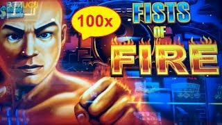 Fists of Fire Slot - 100x BIG WIN - Great Bonus!