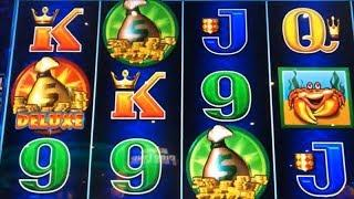 •FINALLY I GOT A SATISFYING WIN!•Whales of Cash Deluxe Slot machine •Kept chasing the Deluxe•彡