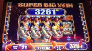Napoleon & Josephine 2 Cent Slot Machine BIG WIN Line Hit!