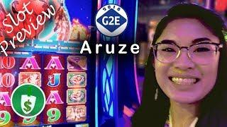 #G2E2018 Aruze - The Brave Spirit, Wheel of Prosperity Dragon, Hawaiian Fishing slot machines