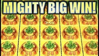 •NEW SLOT! MIGHTY BIG WIN!!• BIG MONEY GREEN (MIGHTY CASH) Slot Machine Bonus (Aristocrat)
