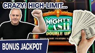 ⋆ Slots ⋆ CRAZY! High-Limit HANDPAY ⋆ Slots ⋆ ⋆ Slots ⋆ MIGHTY CASH Double Up SLOT MACHINE EXCITEMEN