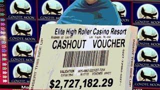 $2,727,182.29 MILLION Cashout $100 Slot Machine Jackpot Handpay High Roller Stakes Slots Vegas Casin