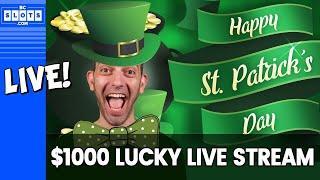 •LUCKY LIVE STREAM • Feeling GREEN •$1000 at San Manuel Casino