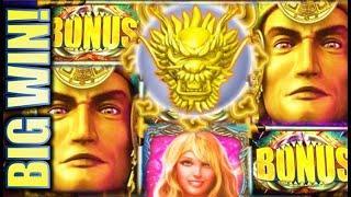 •WINNING!• MAYAN CHIEF & 5 DRAGONS SUPER FREE GAMES & MORE Slot Machine Bonus (KONAMI)