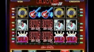 Barcrest's Elvis Top 20 Fruit Machine (£500 Jackpot) Gold Disc Feature.