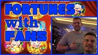 • FORTUNES • with AWESOME fans • Park MGM • Slot Fruit Machine Pokies w Brian Christopher