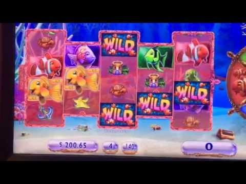 Gold Fish 3 Bonus Blue Fish n live play $7 bet ** SLOT LOVER **