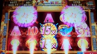 Golden Pumpkin Slot Machine Bonus - 5 Free Games Win with 10x + 15x Wild Multipliers