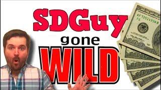 SDGuy GONE WILD! Slot Machine Bonus Big Wins With SDGuy... SDGuy Strips For Good Luck At the Casino!