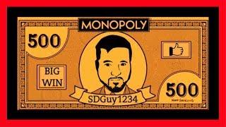 BIG WINS ONLY! Monopoly Slot Machine Bonuses! LET'S WIN MASSIVELY WITH SDGuy1234!