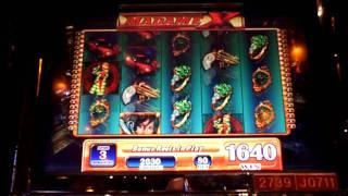 Madame X slot machine bonus win at Sands Casino