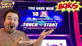 Quick Hits Super Wheel - BONUS FREE GAMES NICE WIN Slot Machine Live Play Black & White Sevens