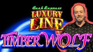 ⋆ Slots ⋆CASH EXPRESS LUXURY LINE Timberwolf All Features!⋆ Slots ⋆