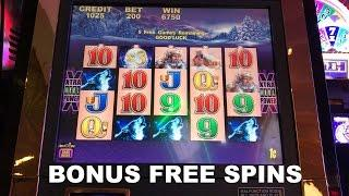 TIMBER WOLF live play max bet with BONUS free spins Slot Machine Aristocrat