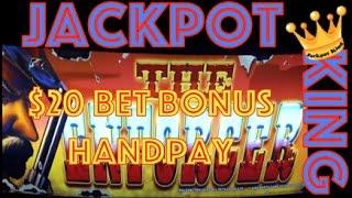 The Enforcer Slot Machine $20 Bet Bonus Spins JACKPOT HANDPAY