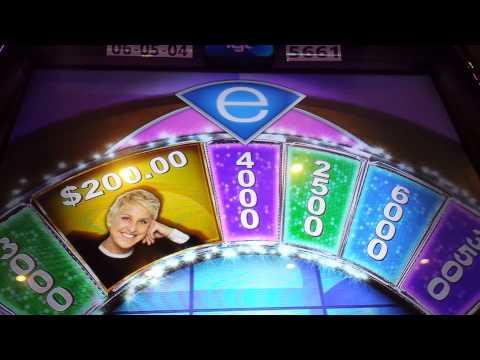 Ellen's wheel of Riches, bonus 10x.