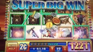 WMS Wild Stampede 2 Cent Slot Machine Line Hit
