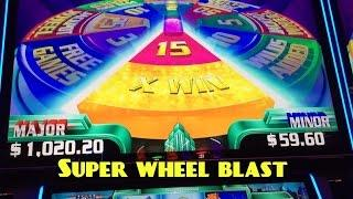 SUPER WHEEL BLAST Miss Liberty slot machine 50 spins BONUS WIN!