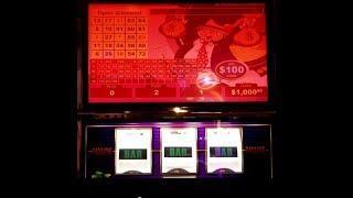$100 MR.MONEY BAGS - POLAR HIGH ROLLER -CRAZY CHERRY WILD FRENZY Choctaw Casino, Durant