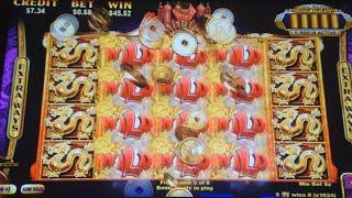 Golden Zodiac Slot Machine Bonus - 8 Free Games with Gold Stacked Wilds - BIG WIN