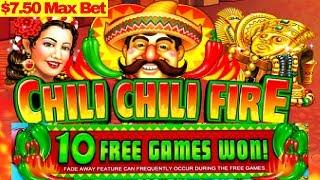 Chilli Chilli Fire Slot Machine $7.50 Max Bet Bonus & BIG WIN Line Hit|$12 Bet W4 BUFFALO GOLD Bonus