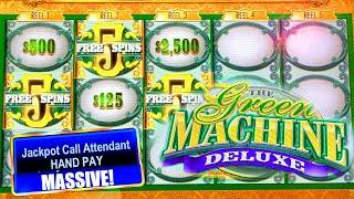 $10,000 HIGH LIMIT BETS ⋆ Slots ⋆ BIG JACKPOTS ON GREEN MACHINE DELUXE ⋆ Slots ⋆ HAND PAY
