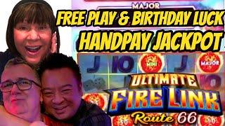 WOW! JACKPOT HANDPAY ON FREE PLAY-ROBERT IS ON FIRE AGAIN!