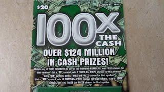 100X The Cash - Illinois Instant Lottery Ticket Scratchcard