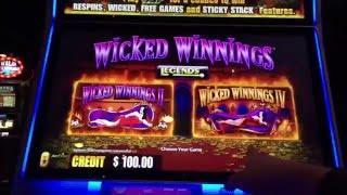 Wicked Winnings II & Wicked Winnings IV Slot Machine at Firekeepers