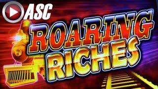 ROARING RICHES   CHOO-CHOO!! NICE WIN! Slot Machine Bonus (Ainsworth)