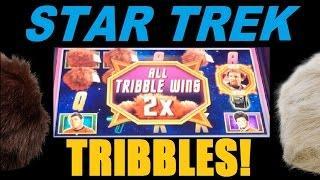 ★☆☆ STAR TREK SLOT WIN TROUBLE WITH TRIBBLES Part 1 Of 3! Star Trek Slot Machine Bonus!