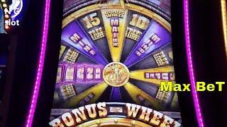 Buffalo Grand Slot Machine Bonus Win and Buffalo Line Hit !!! Max Bet Live Play