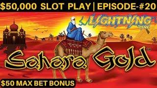 $3500 vs High Limit Lightning Link SAHARA GOLD Slot & $50 MAX BET BONUS    SEASON 6   EPISODE #20