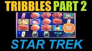 ★★☆ TROUBLE WITH TRIBBLES STAR TREK SLOT WIN Part 2 Of 3!! Starship Enterprise Slot Machine Bonus!