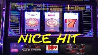 Triple Double Diamond Free Games Live Play 10 cent denom. NICE HIT Slot Machine