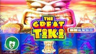 The Great Tiki slot machine, Min Bet Bonus example
