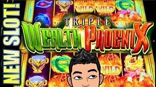 •NEW SLOT! TRIPLE WEALTH PHOENIX• BETTER THAN TRIPLE ACTION DRAGONS? Slot Machine Bonus (AINSWORTH)