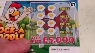 Wow!..WINNER....The GREAT Escape.Scratchcard Game..FAST 500..Cock-A-Doodle Dough..SUPER 7's