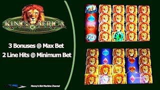 WMS - King of Africa : 3 Bonuses and  2 Line Hits