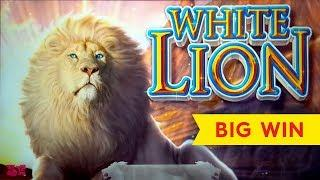 White Lion Slot - NICE SESSION, ALL FEATURES!