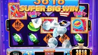 JACKPOT BLOCK PARTY | WMS - SUPER BIG WIN! Slot Machine Bonus