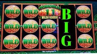 •BIG WIN• WILD Lepre'COINS Slot Machine Bonus BIG WIN ! Live Slot Play + Konami Solar Blessing Bonus