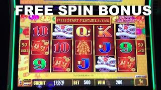 Lightning Link Happy Lantern FREE SPIN BONUS $5.00 BET Live Play Slot Machine