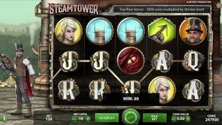 NETENT Steam Tower Slot REVIEW Featuring Big Wins With FREE Coins