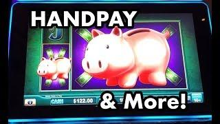 HANDPAY!  Lock it Link Piggy Bankin, Dancing Drums, and more!