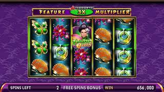 EMERALD QUEEN Video Slot Casino Game with a EMERALD QUEEN FREE SPIN BONUS