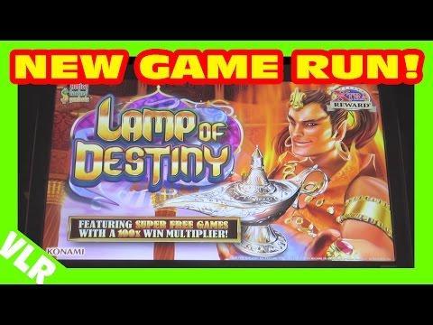 FUN RUN ON NEW GAME - LAMP OF DESTINY - Slot Machine Bonus